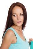 Schöne junge Frau, die weg schaut Lizenzfreie Stockbilder