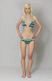 Schöne junge Frau im Bikini lizenzfreie stockbilder