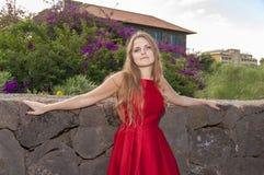 Schöne junge Frau im Park lizenzfreies stockbild