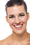 Schöne junge Frau mit perfekter Haut lizenzfreies stockbild