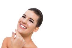 Schöne junge Frau mit perfekter Haut lizenzfreies stockfoto