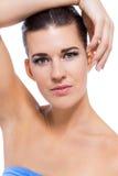 Schöne junge Frau mit perfekter Haut lizenzfreie stockfotografie