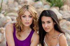 Schöne junge Frauen Lizenzfreies Stockfoto
