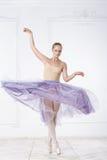 Schöne junge Frauen-Ballerina Stockbilder
