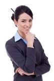 Schöne junge Geschäftsfrau stockfoto