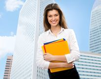 Schöne junge Geschäftsfrau Lizenzfreies Stockfoto