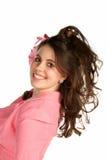 Schöne junge lächelnde Frau Stockbilder