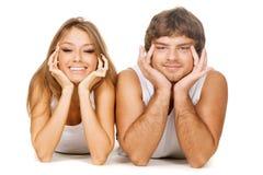 Schöne junge Paare Stockfotografie
