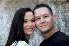 Schöne junge Paare in der Liebe Lizenzfreies Stockfoto