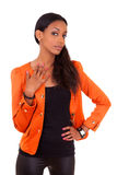 Schöne junge schwarze Frau Stockbild