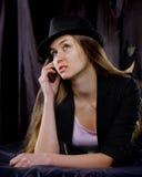 Schöne junge sexuelle Frau Lizenzfreies Stockfoto