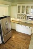 Schöne Küche, obenliegende Ansicht Stockfoto