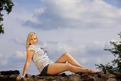 Schöne kühle blonde Jugendliche Stockbilder