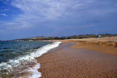 Schöne Küste des Asow-Meeres Lizenzfreies Stockbild