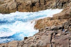 Schöne Küste und Welle in Thailand Lizenzfreies Stockfoto