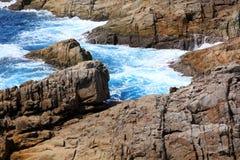 Schöne Küste und Welle in Thailand Lizenzfreie Stockfotos