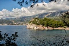 Schöne Küstenansicht, adriatisches Meer, Montenegro Stockfoto