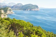 Schöne Küstenansicht, adriatisches Meer, Montenegro Lizenzfreie Stockbilder