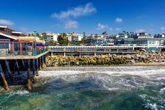 Schöne Küstenlinie des Pazifischen Ozeans in Redondo Beach, Kalifornien lizenzfreie stockfotografie