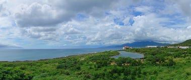 Schöne Küstenlinie von Süd-Taiwan Stockfotos