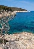 Schöne Küstenlinien in der Elba-Insel. Italien Lizenzfreie Stockfotografie