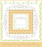 Schöne kalligraphische dekorative Rahmen Lizenzfreies Stockbild