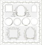 Schöne kalligraphische dekorative Rahmen Stockfotos