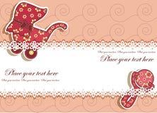 Schöne Karte mit einem Satz für das Baby Stockbilder