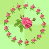 Schöne Karte mit Rosen Stockfotografie