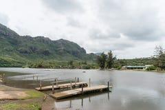 Schöne Kauai-Stauwasseraussicht im Winter, Hawaii lizenzfreie stockbilder