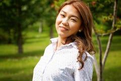 Schöne Kazakhfrau Stockbild