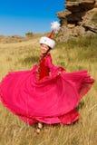 Schöne Kazakhfrau und -mann im nationalen Kostüm Lizenzfreie Stockfotografie