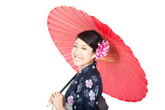 Schöne Kimonofrau Stockfoto