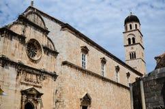 Schöne Kirche in der alten Stadt von Dubrovnik, Kroatien Stockfotografie