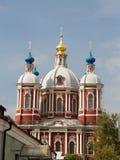 Schöne Kirche in Moskau Stockfotografie