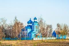 Schöne Kirche nahe der Stadt von Rivne, Ukraine Stockfotos