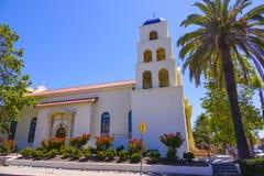 Schöne Kirche an Park Sans Diego Old Town State Historic Lizenzfreie Stockfotos