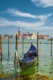 Schöne Kirche von San Giorgio Maggiore und Gondeln, Venedig, I Stockfotografie