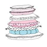 Schöne Kissen auf einem weißen Hintergrund Lizenzfreie Stockbilder