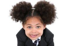 Schöne kleine Geschäftsfrau in der Klage und in der Gleichheit Stockfotos