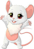 Schöne kleine Maus ist glücklich lizenzfreie abbildung