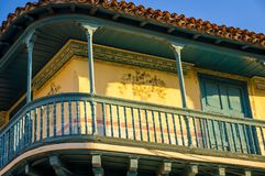 Schöne Kolonialfassade in Trinidad Cuba stockbilder