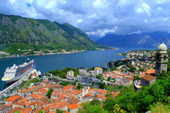 Schöne Kotor-Stadtlandschaft, Montenegro Lizenzfreie Stockfotos