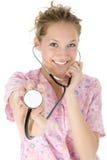 Schöne Krankenschwester stockfoto