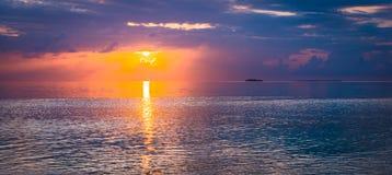 schöne Kunst des Sonnenuntergangs Lizenzfreies Stockfoto