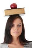 Schöne Kursteilnehmerfrau Stockbilder
