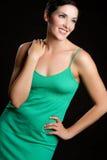 Schöne lächelnde Frau Lizenzfreie Stockfotos