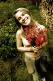 Schöne lächelnde Frau Lizenzfreies Stockbild