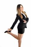 Schöne lächelnde Geschäftsfrau Stockfoto