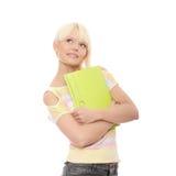 Schöne lächelnde Kursteilnehmerfrau. Stockbilder
